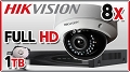 Zestaw do monitoringu IP Hikvision, 2Mpix, FULL HD, 8x kamera DS-2CD2720F-I, rejestrator DS-7616NI-E2/A, dysk 1TB, akcesoria