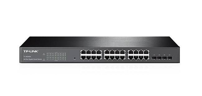 TP-Link TL-SG2424 JetStream 24-Port Gigabit Smart Switch with 2 Combo SFP Slots